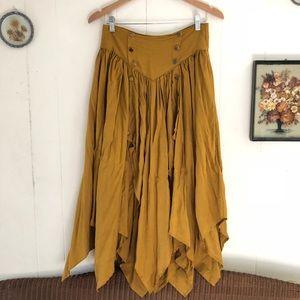 Vintage Mustard Steampunk Skirt
